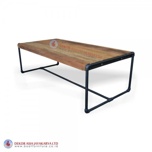 Wood Furniture Industrial Console table with black iron pipe legs