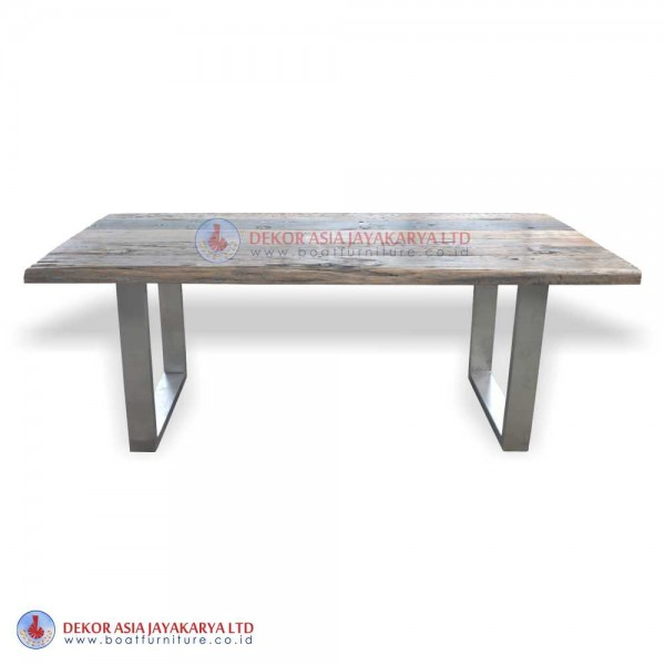 Recycled Railway Wood Dinning Table