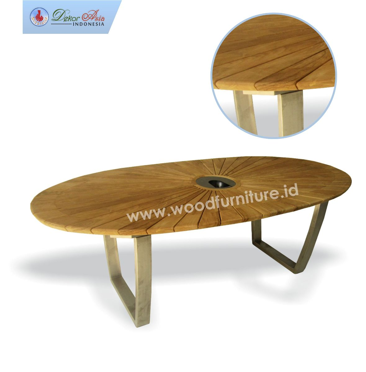 PACIFIC TABLE OVAL STAINLESS